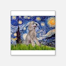 "Starry / Std Poodle (s) Square Sticker 3"" x 3"""