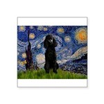 Starry / Std Poodle(bl) Square Sticker 3
