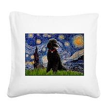 Starry / Std Poodle(bl) Square Canvas Pillow