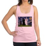 Starry Night / 2 Poodles(b&w) Racerback Tank Top