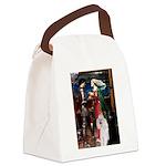 Tristan / 2 Poodles(b&w) Canvas Lunch Bag