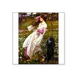 Windflowers / Poodle (BLk-ST) Square Sticker 3