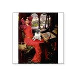 Lady / Pug Square Sticker 3