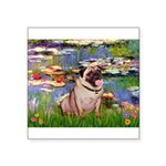 Lilies (#2)/Pug (#2) Square Sticker 3
