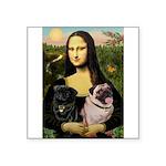 Mona's 2 Pugs Square Sticker 3