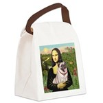 Mona's Fawn Pug (#2) Canvas Lunch Bag