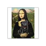 Mona's Black Pug Square Sticker 3