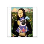 Mona & Sir Pug Square Sticker 3