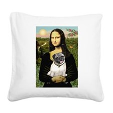 Mona's Fawn Pug Square Canvas Pillow