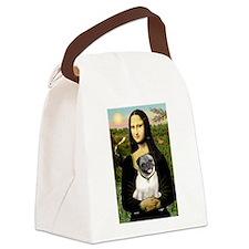Mona's Fawn Pug Canvas Lunch Bag