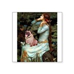 Ophelia / Fawn Pug Square Sticker 3