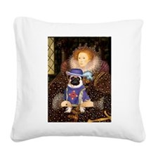 Queen-Sir Pug (17) Square Canvas Pillow