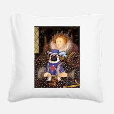 Queen-Sir Pug (17) Square Canvas Pillow