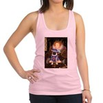 Queen-Sir Pug (17) Racerback Tank Top