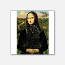 "Mona Lisa /Puli Square Sticker 3"" x 3"""