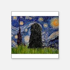 "Starry Night / Puli Square Sticker 3"" x 3"""