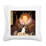 Queen / Rat Terrier Square Canvas Pillow