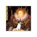 Queen / Rat Terrier Square Sticker 3