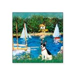 Sailboats / Rat Terrier Square Sticker 3