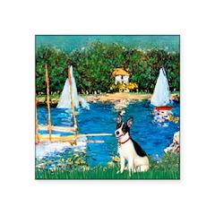 Sailboats / Rat Terrier Square Sticker 3