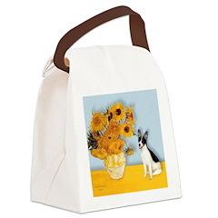Sunflowers / Rat Terrier Canvas Lunch Bag