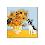 Sunflowers / Rat Terrier Square Sticker 3