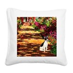 Path / Rat Terrier Square Canvas Pillow