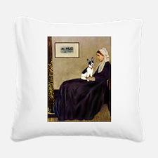 Whistler's / Rat T Square Canvas Pillow