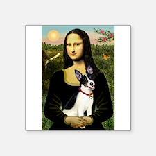 "Mona / Rat Terrier Square Sticker 3"" x 3"""