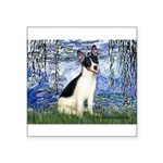 Lilies / Rat Terrier Square Sticker 3