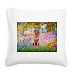 Garden / R Ridgeback Square Canvas Pillow