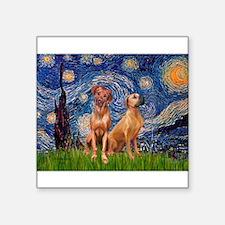 "Starry / Rhodesian Ridgeback Square Sticker 3"" x 3"