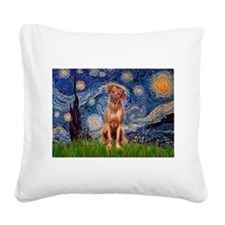 Starry / R Ridgeback Square Canvas Pillow
