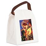 Mandolin Angel/Rottweiler Canvas Lunch Bag