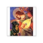 Mandolin Angel/Rottweiler Square Sticker 3