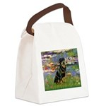 Lilies2/Rottweiler Canvas Lunch Bag