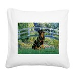 Bridge / Rottie Square Canvas Pillow