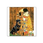 Kiss & Rottweiler Square Sticker 3
