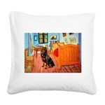 Room / Rottweiler Square Canvas Pillow