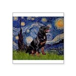 Starry/Rottweiler (#6) Square Sticker 3