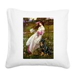 Windflowers / Rottweiler Square Canvas Pillow