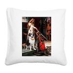 Accolade / St Bernard Square Canvas Pillow