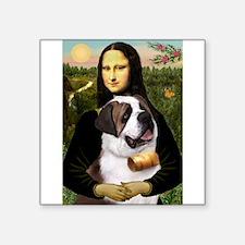 "Mona / Saint Bernard Square Sticker 3"" x 3"""