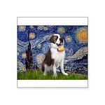 Starry / Saint Bernard Square Sticker 3