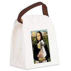 Mona Lisa (new) & Saluki Canvas Lunch Bag
