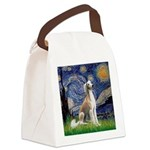 Starry Night / Saluki Canvas Lunch Bag