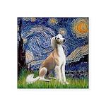 Starry Night / Saluki Square Sticker 3
