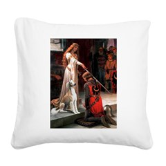 Accolade / Saluki Square Canvas Pillow