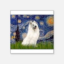 "Starry / Samoyed Square Sticker 3"" x 3"""