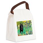 Irises / Schipperke #2 Canvas Lunch Bag